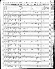 1850 Milwaukee census record van Govert Schaap.