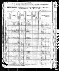 1880 census record van Milwaukee met familie Guequièrre.